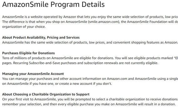 Donate for Free with Amazon Smile