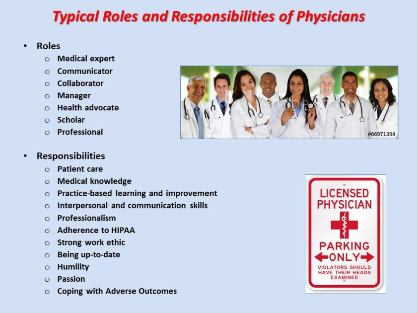 Doctors' Roles and Responsibilities